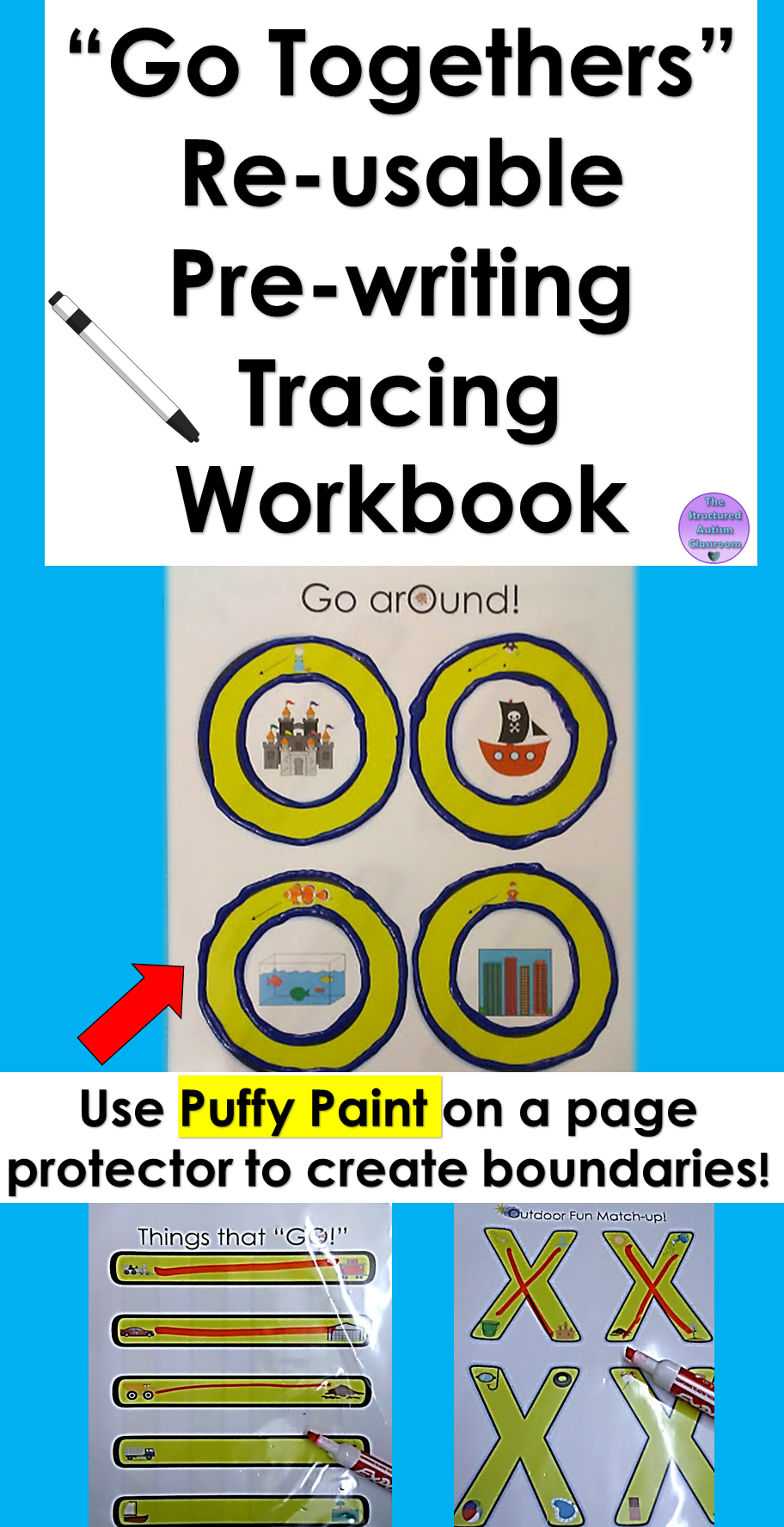 Workbooks pre k workbook : Pre-writing Tracing Workbook with Associations Reusable for Autism ...