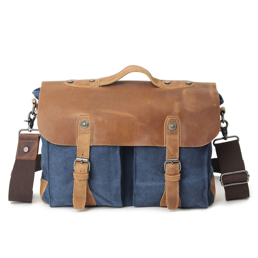 Vintage Style Leather Messenger Shoulder Bags 14 Laptop Satchel Bag Briefcase Fashion Clothing Sho Laptop Shoulder Bag Canvas Laptop Bag Canvas Leather Bag