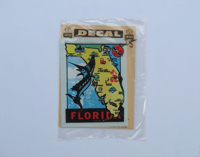 Vintage Florida Sticker Decal Travel Tourist Souvenir Car Etsy Vintage Florida Vintage Travel Vintage [ 1944 x 2473 Pixel ]