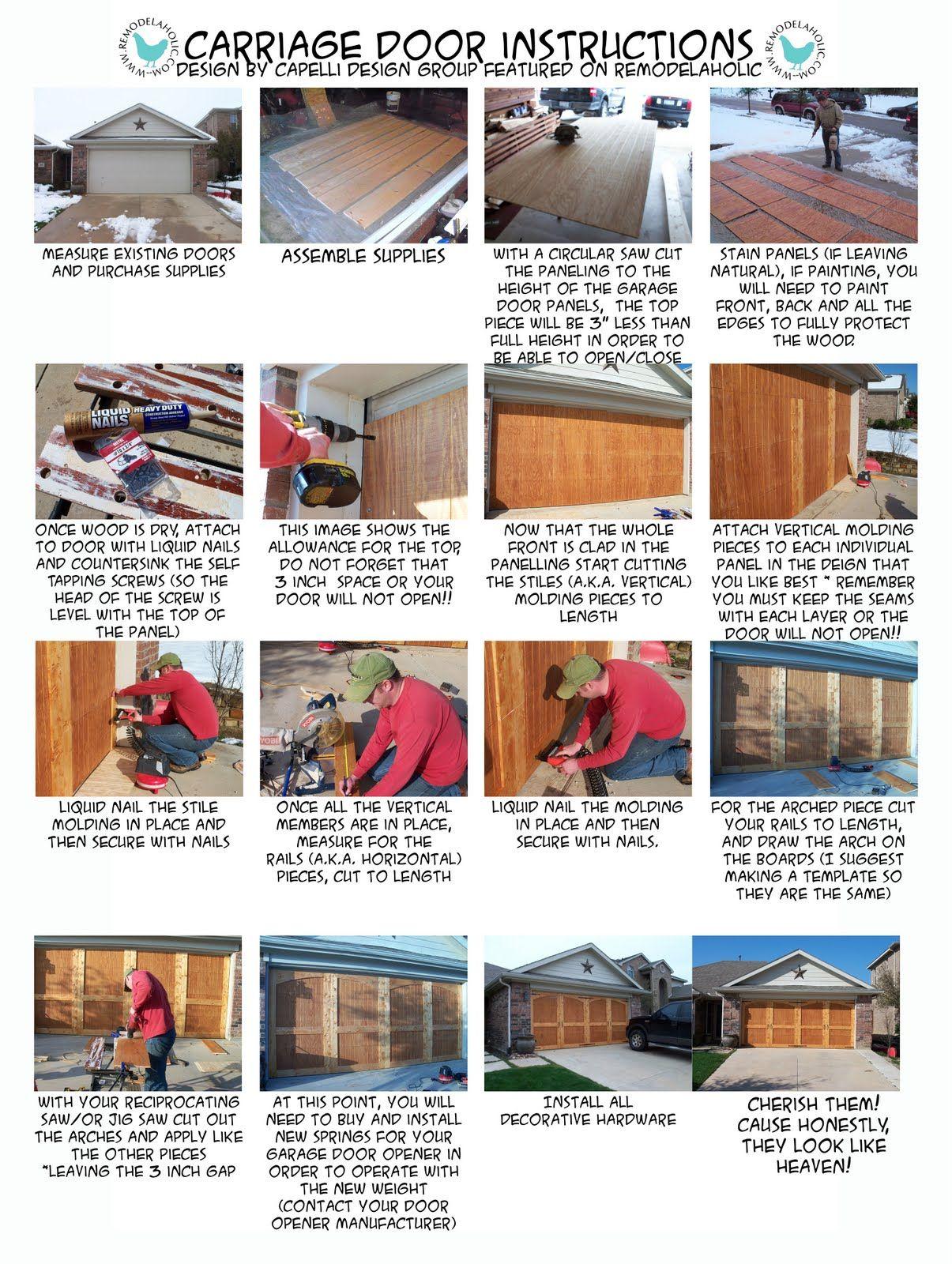 Templateforinstructionsheetcopyg Diy Remodel Garage Door To