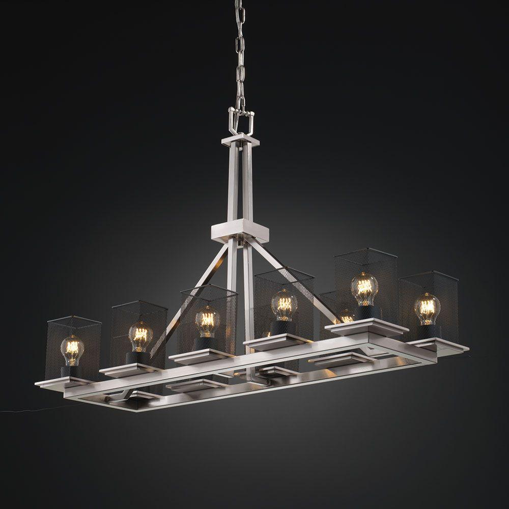 msh wire mesh modern kitchen island light fixture jus lighting niche ...