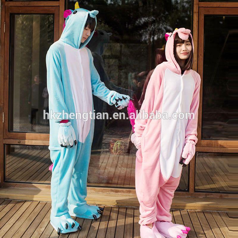 86c5660fb3 Ecoparty flannel cute cartoon winter unicorn pajamas sets women hooded  animal pyjamas adult onesie pajama set pyjama for couple