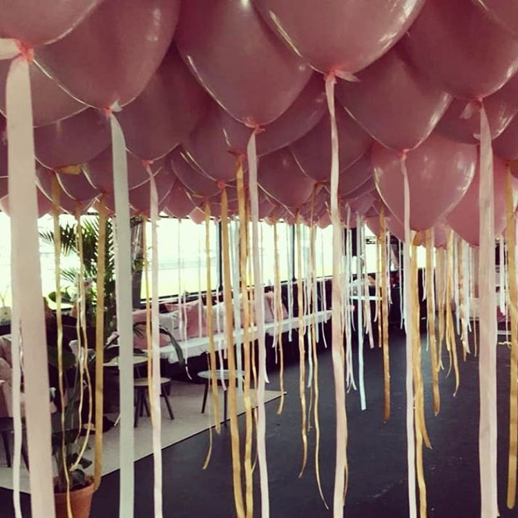 Verwonderend Pretty in pink - pink balloons with gold and pink ribbons EG-36