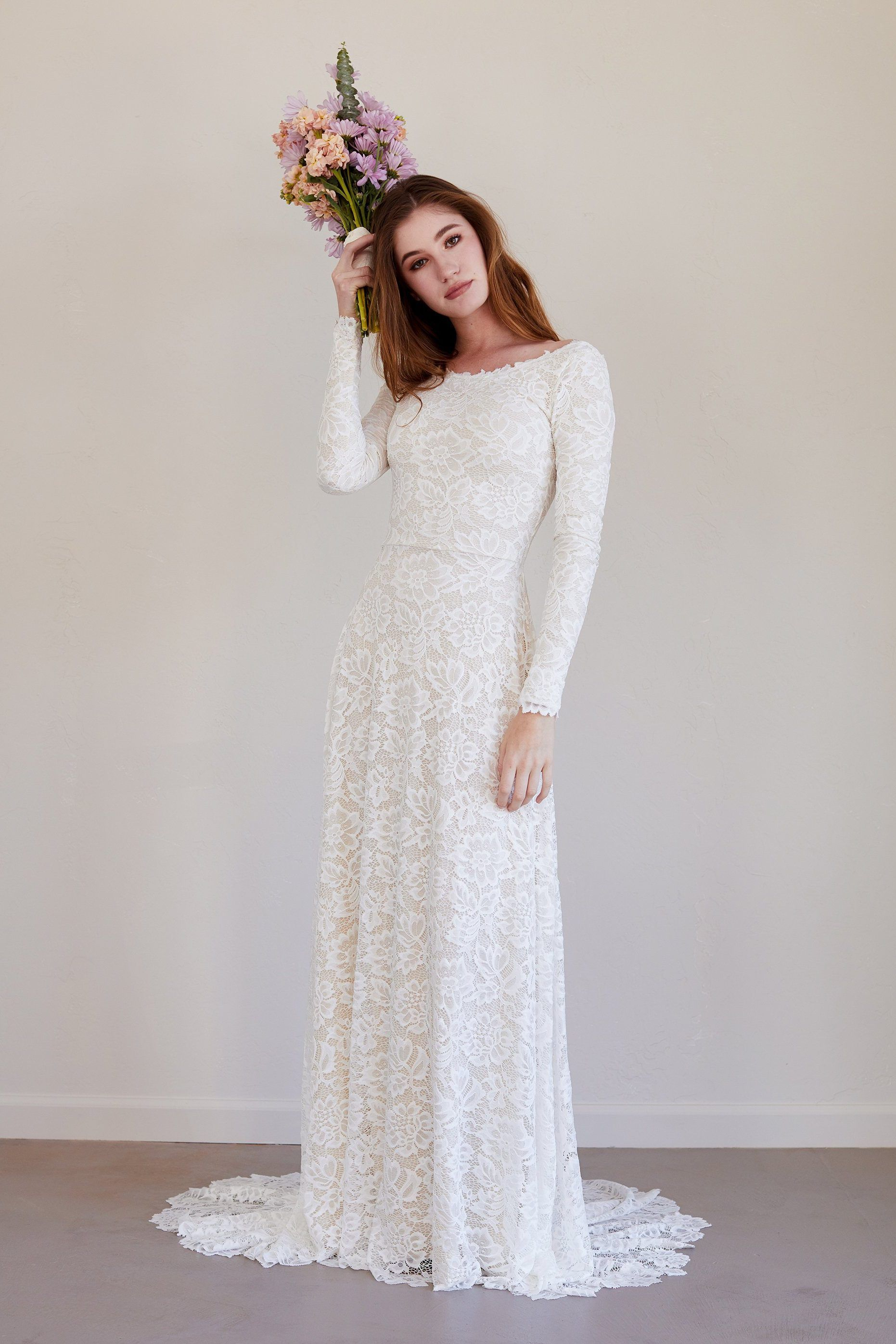 Long Sleeve Lace Wedding Dress Wedding Dresses Lace Weddings