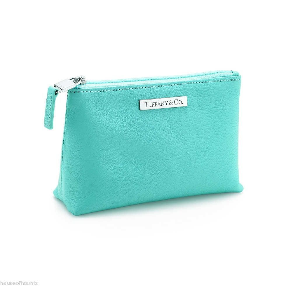 6b5d2eb0513 Tiffany & Co Cosmetics Makeup Bag Purse Pouch Zipper Leather Handbag Coin  Case #TiffanyCo