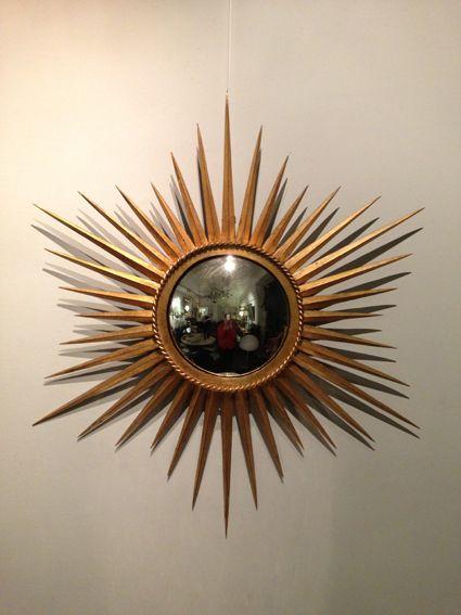 miroir soleil en sorci re bronze dore miroirs soleil et miroirs de sorci res pinterest. Black Bedroom Furniture Sets. Home Design Ideas
