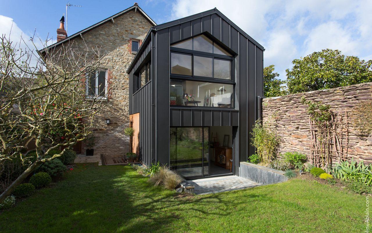 extension sur jardin d une maison des ann es 30 typique de rennes objectif ouvrir la maison. Black Bedroom Furniture Sets. Home Design Ideas