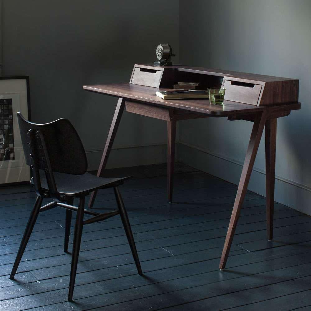 """Photo of ercol desk """"Treviso"""" walnut"""