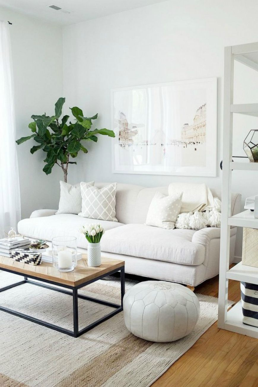 How To Dress Up Your Neutral Living Room Sofa | Neutral living room ...