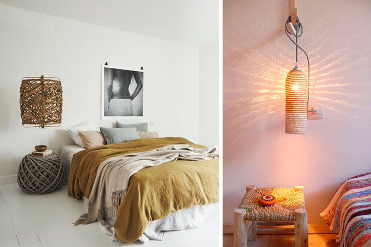 Lámparas de mimbre y bambú para decorar tu hogar Lamparas - decoracion con bambu