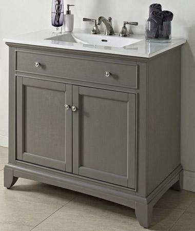 Incroyable Fairmont Designs 1504 V36 Smithfield Medium Gray Bathroom Vanity 36 X 21 1/