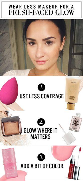 How To Wear Less Makeup And Still Look Stellar Fresh Face Makeup How To Wear Makeup Makeup For Teens