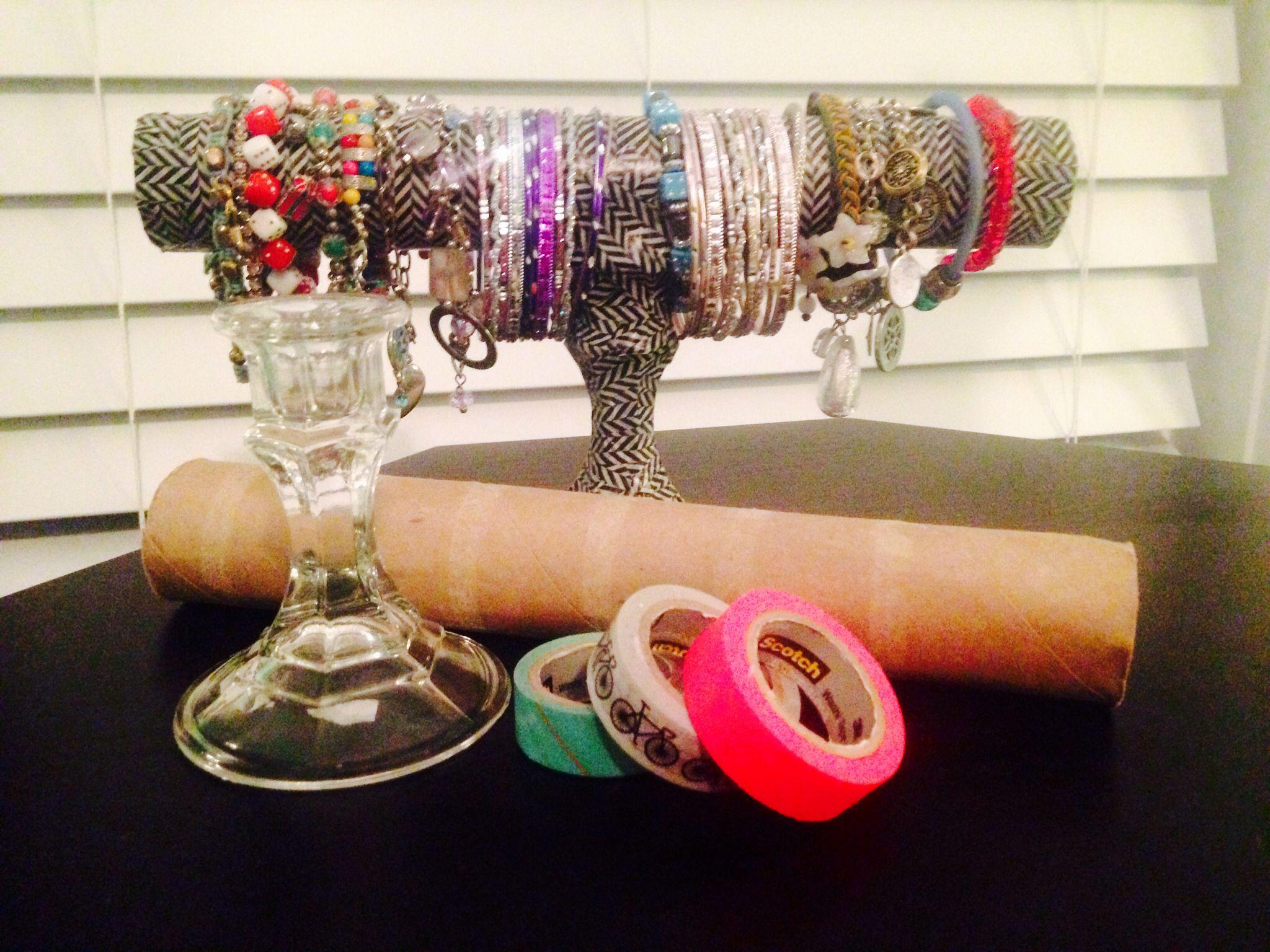 Diy bracelet holder buy a candle holder from dollar tree