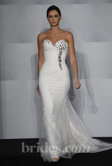Rivini - Fall 2013 - Glacia Strapless Layered Satin Mermaid Wedding ...