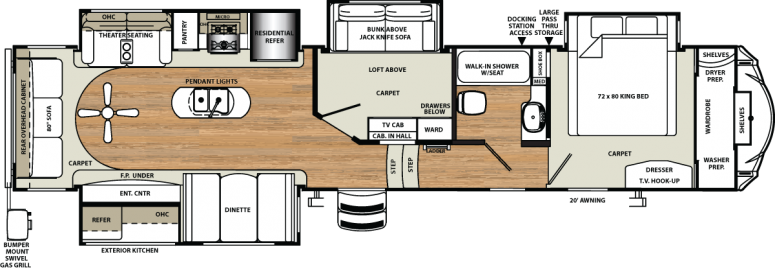 Mid Bunk 5th Wheel Floor Plans You'll Love