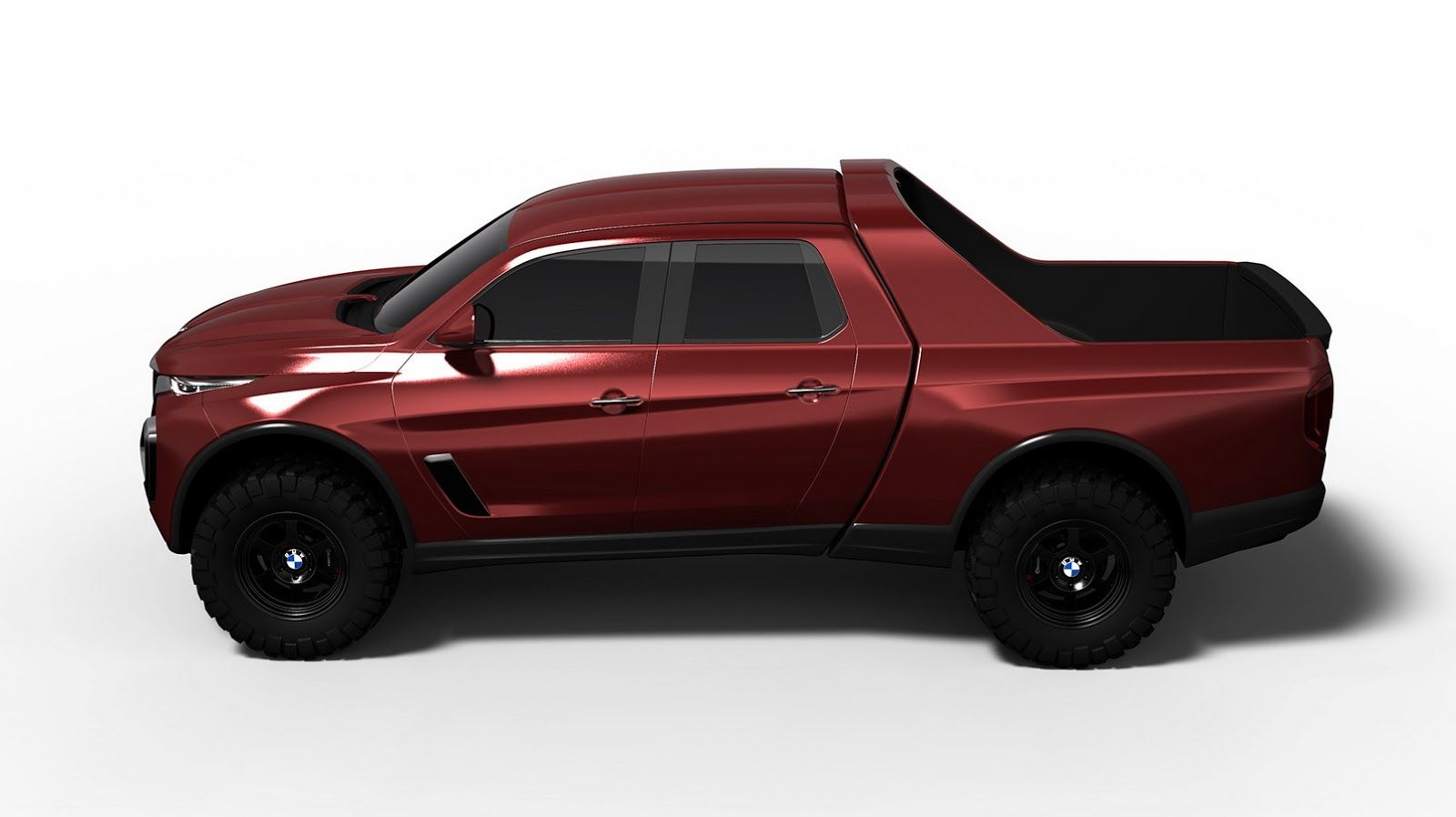 A Bmw Pickup Truck Design Study That Doesn T Look Half Bad Carscoops In 2021 Bmw Truck Truck Design Pickup Trucks