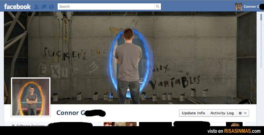 Portadas Facebook originales: Portal.