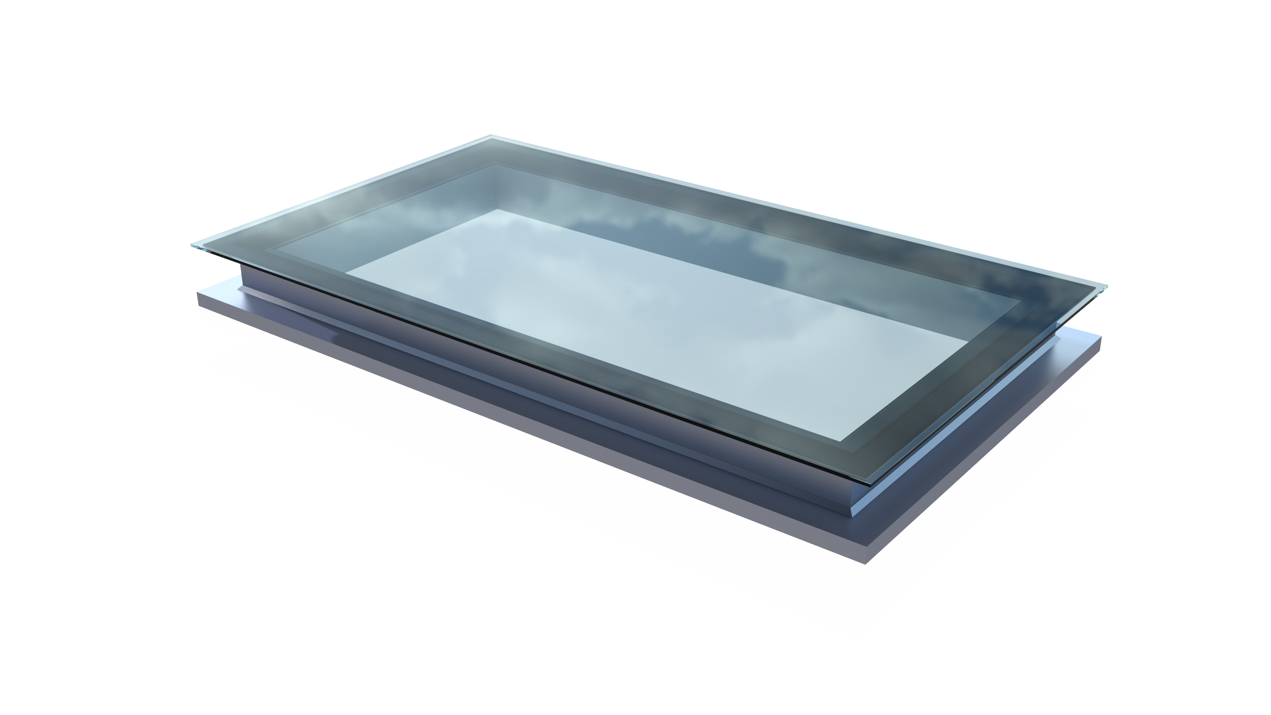 Modern Flat Roof Windows By Ofset Can Be Designed And Costed Online You Choose The Frame Colours Glass Tints Specificatio Roof Light Roof Window Glass Roof