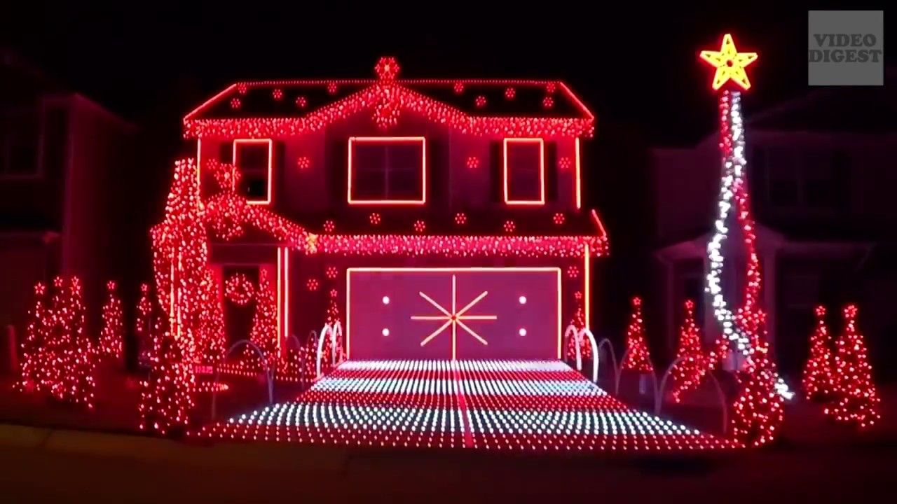The Best Christmas Lights Ever Done In Tune With Music Video Digest Best Christmas Lights Christmas Light Show Christmas Lights