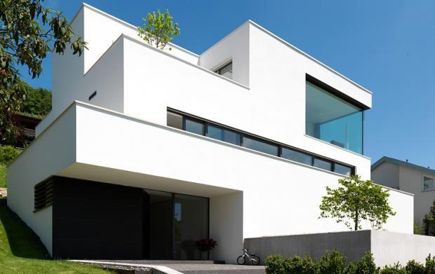 Architektenhaus 1,5-geschossig moderne Architektur   Haus und Modern