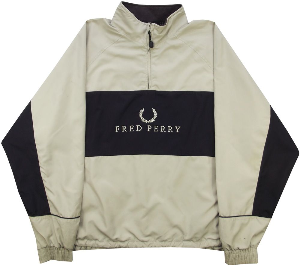 Rare Fred Perry Sweater Hoodie Big Striped Full Zip Up Nice Design SeS8YsnY