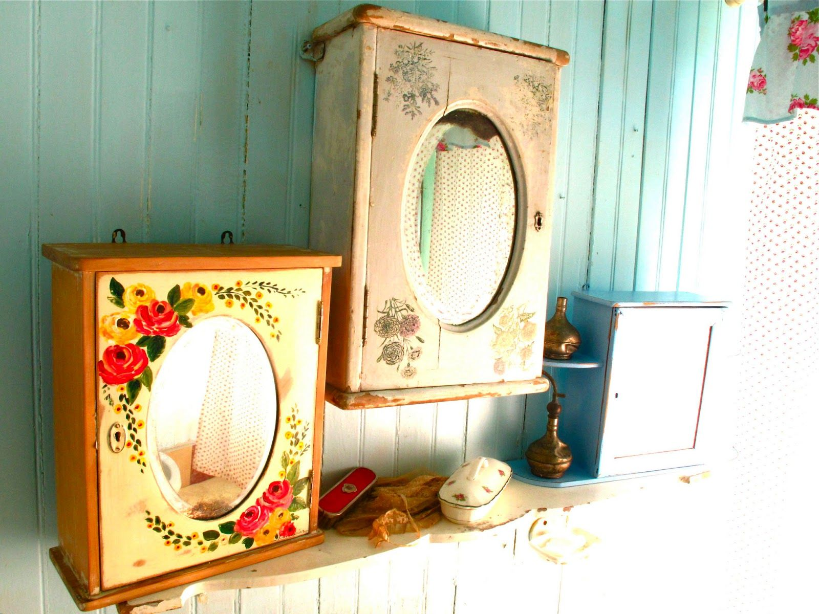 Botiquines Antiguos Botiquin Muebles Pintados A Mano