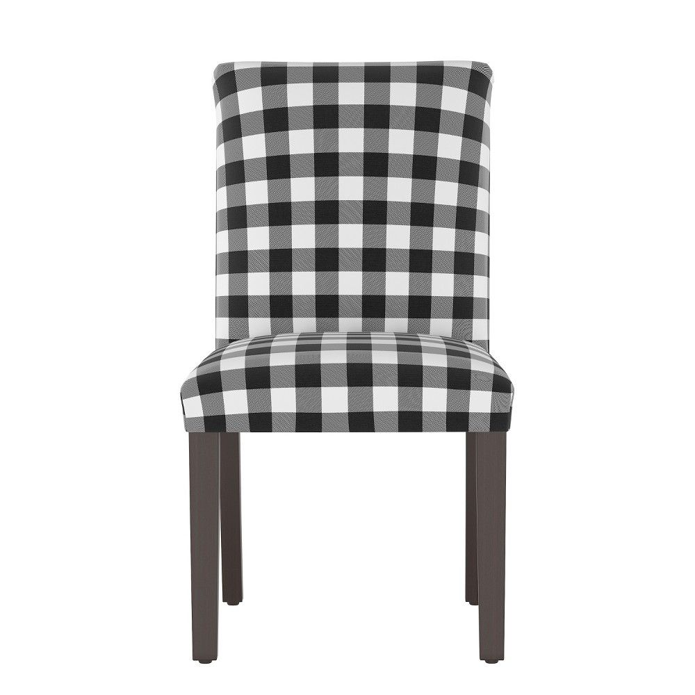 Stupendous Hendrix Dining Chair Black White Check Cloth Co Adult Squirreltailoven Fun Painted Chair Ideas Images Squirreltailovenorg