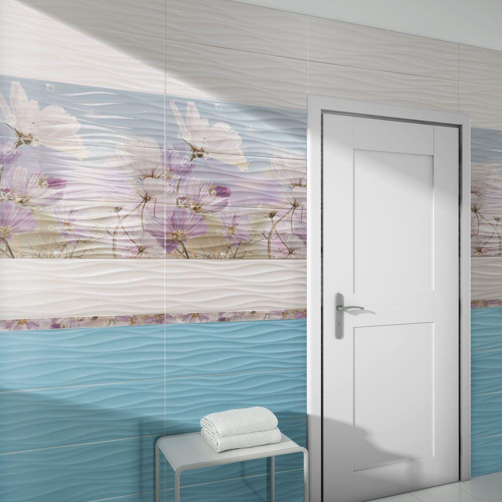 Sky Blue Wave Tiles | Walls and Floors | tile work | Pinterest ...