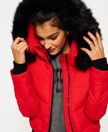 5c6b3326f Superdry Everest Ella Bomber Jacket Red | Autumn/Winter Uni ...