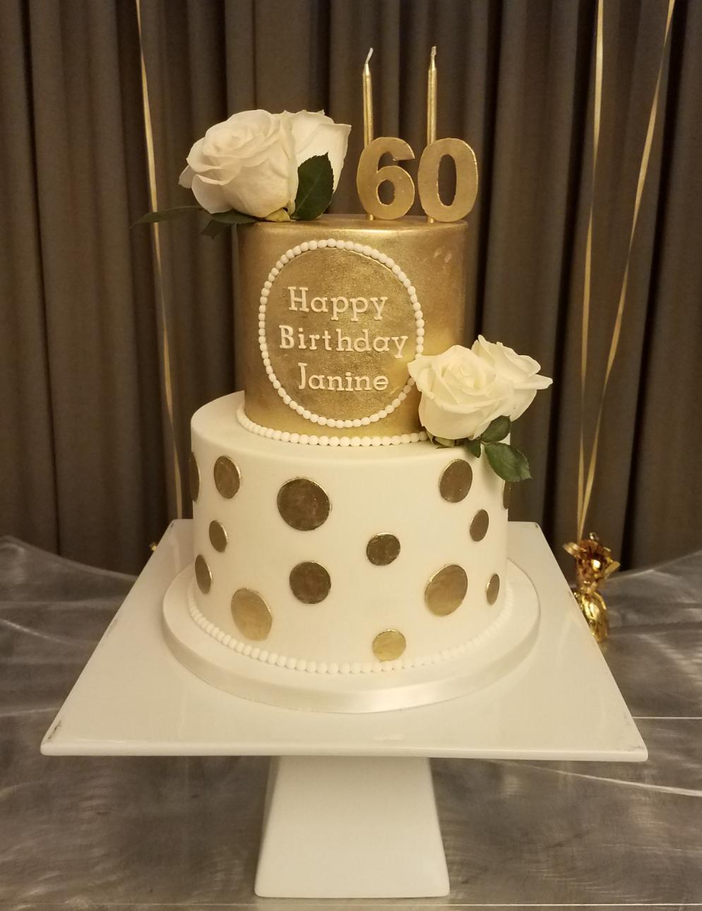 Fine Golden Birthday Cake Golden Birthday Cakes 60Th Birthday Cake Funny Birthday Cards Online Inifofree Goldxyz