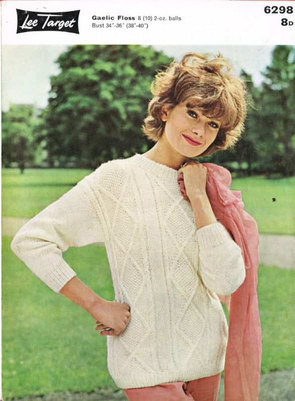Handmade Cardigan Lee target knitting pattern for bust size 34 inches to 40 inches