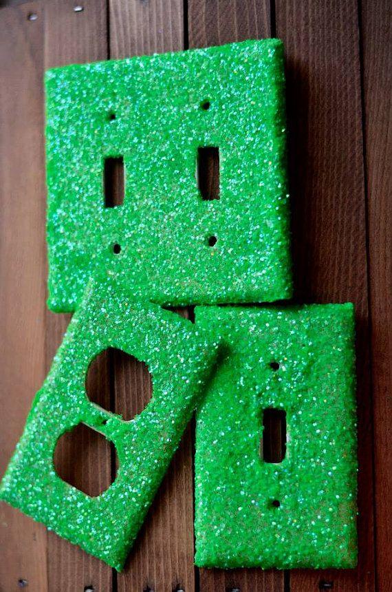Handmade Glitter Light Switch, Plug Pack (includes 2 Plugs ...