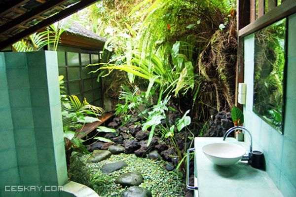 Relax In A Jungle Bathroom Open Concept Bathroom Jungle Bathroom Natural Building House with open concept bathroom