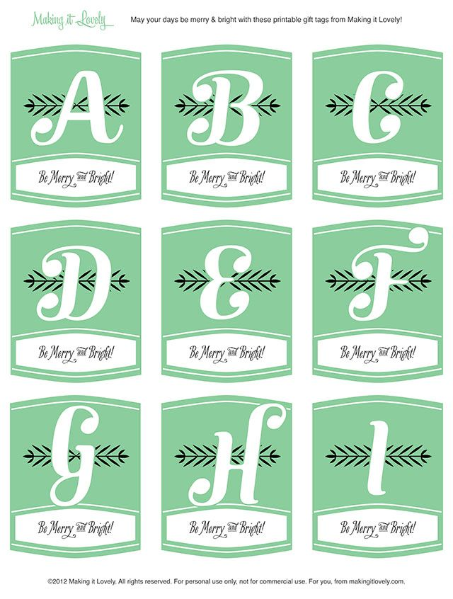 Free printable monogram christmas gift tags tags and other free free printable monogram christmas gift tags negle Choice Image