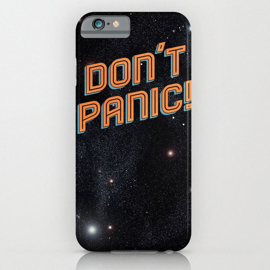 Hitchhiker's Guide To The Galaxy Don't Panic iphone case, smartphone