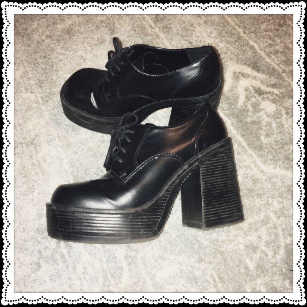Black Platform Shoes | Color: Black | Size: Us 8-8.5 Black Platform Shoes | Color: Black | Size: Us 8-8.5