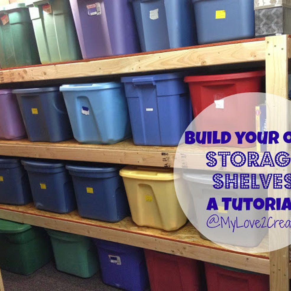Build Your Own Garage Storage Shelves: Build Your Own Storage Shelves