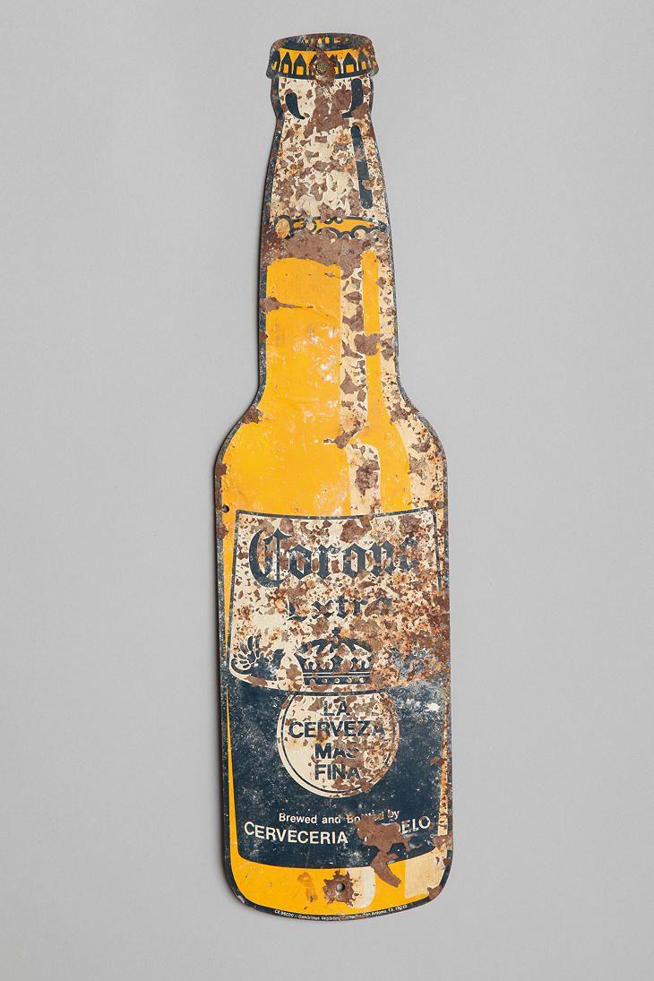 Vintage Metal Corona Sign Metal Beer Signs Vintage Metal Beer Signs