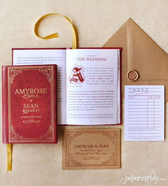 Price For Wedding Invitations: Fable Storybook Wedding Invitation SAMPLE ONLY Price Is In
