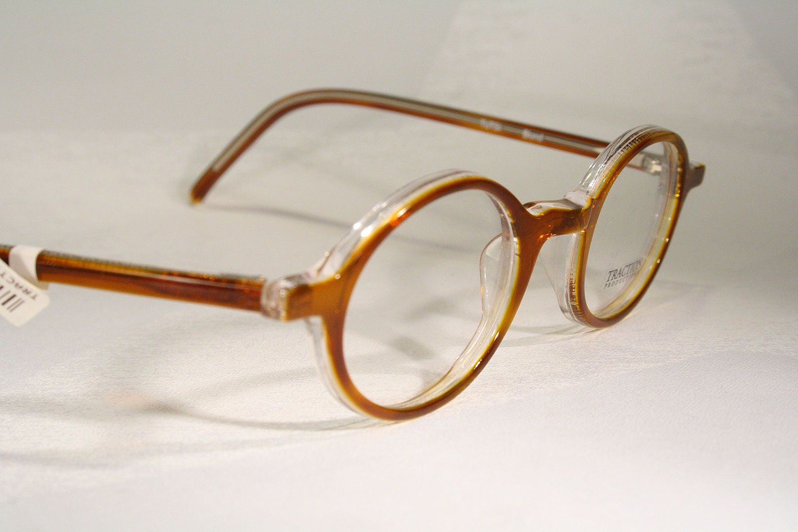 d80ae31f8018 TRACTION PRODUCTIONS  TUTSI Blond  Orange Small Round Eyeglass Frames Men  Women