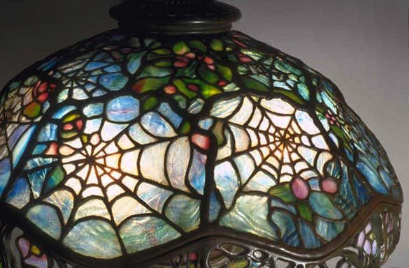 Paul Crist Studios Cobweb Detail 1 Glass Lamp Tiffany Lamps Stained Glass Lamps