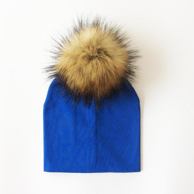 778c6ee143a Bundle up your little one in this cute Cotton Beanie with Faux Raccoon  Pompom. This little beanie is perfect for keeping your little one cozy and  cuter than ...