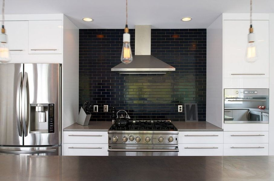 Related Image Black Subway Tiles White Kitchen White Kitchen Cabinets