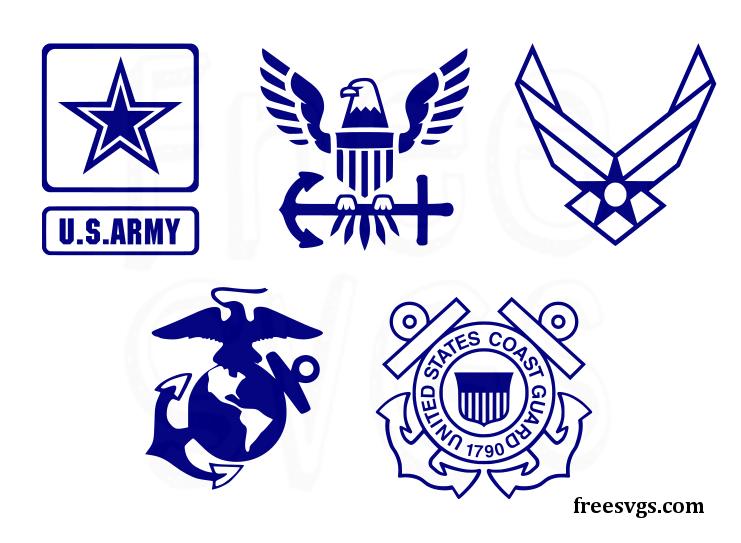 Free Military SVG Logo Set in 2020 Logo set, Svg
