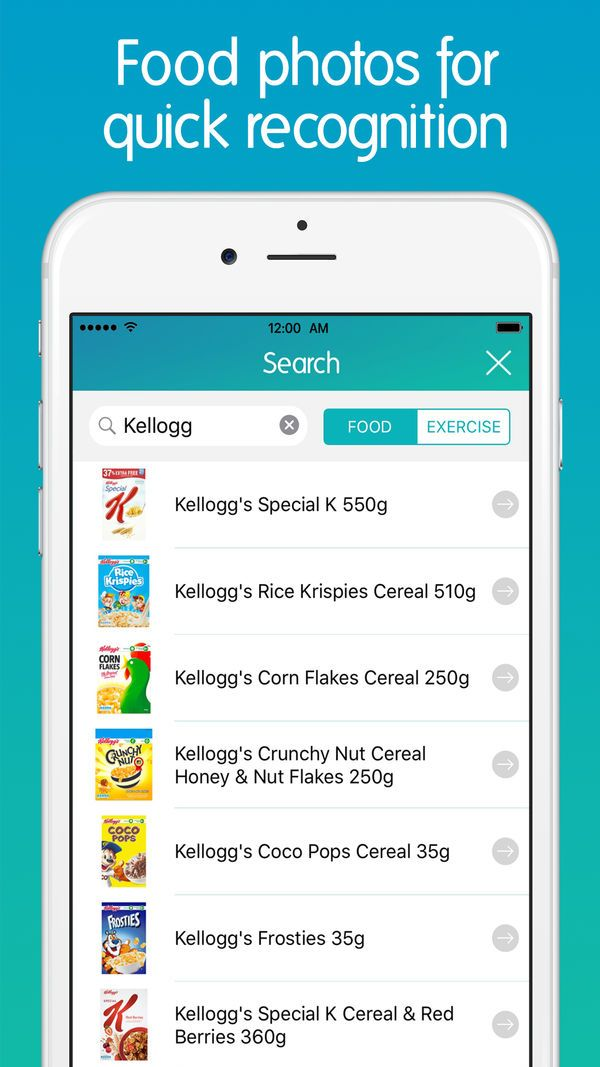 Calorie Counter + on the App Store Ejercicios