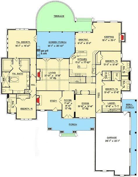 plan 60066rc 5 bedroom magnificent craftsman home