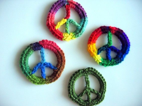 Peace Sign Applique Yarns Pinterest Peace Crochet And Flower