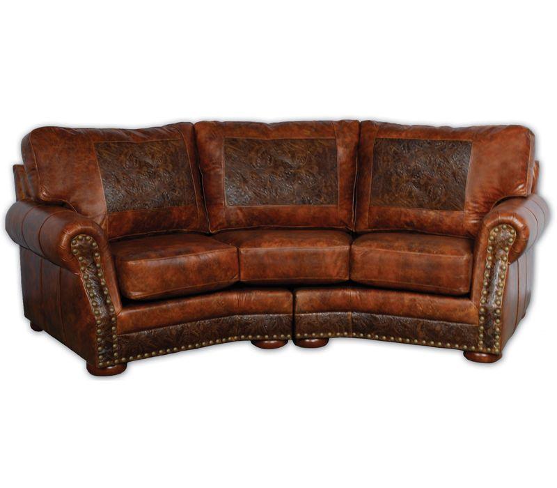 Cameron Ranch Curved Sofa | Big Sky Decor Part 16