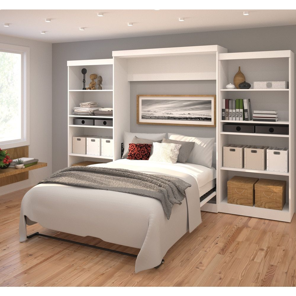 pur by bestar 136 queen wall bed kit overstock com shopping the
