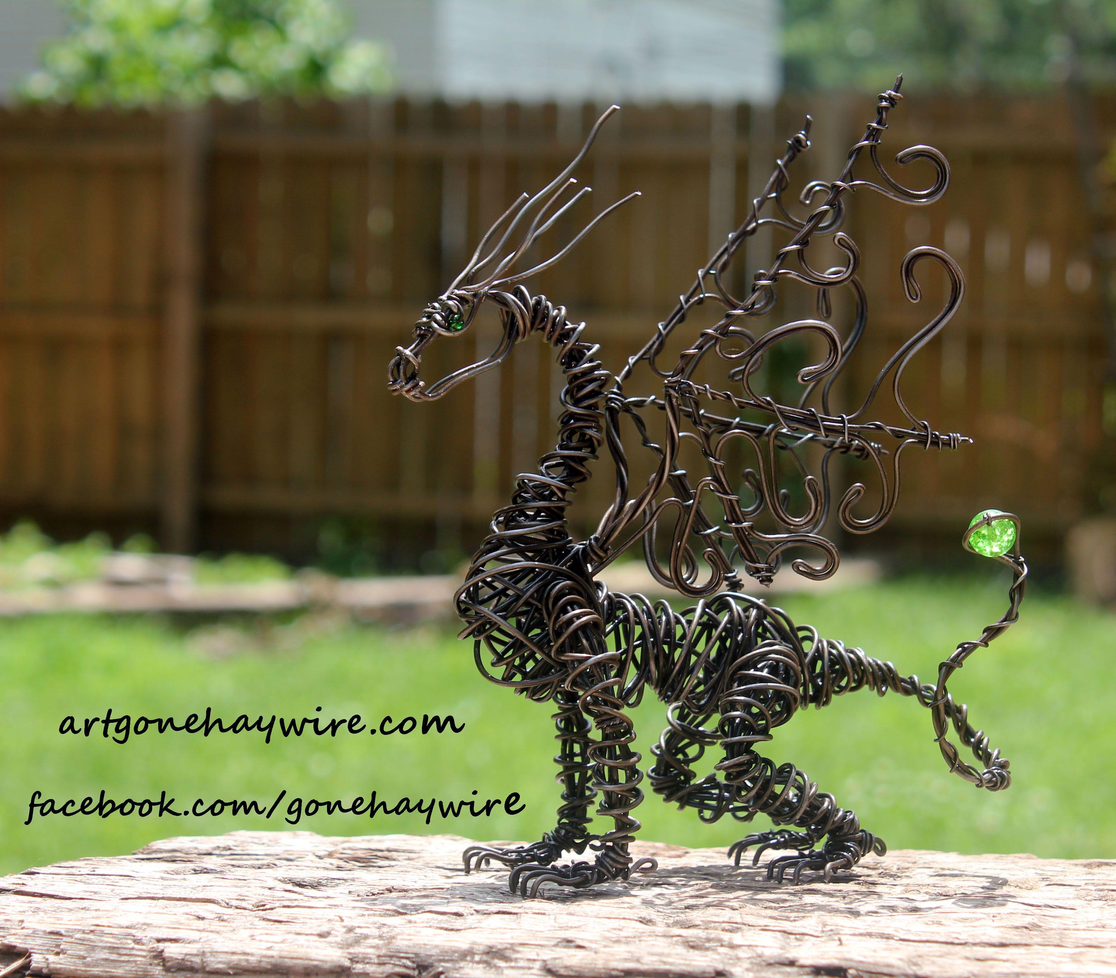 Custom Lil Bit Dragon Haywire Art | Other Wire Work | Pinterest ...
